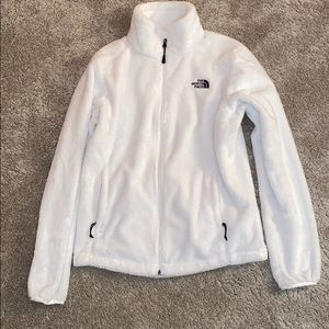 White north face zip up